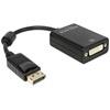 DELOCK adapter DisplayPort (M) - DVI-D (F) (fekete)