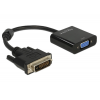 DELOCK Adapter DVI-D 24+1-dugós csatlakozó > VGA-csatlakozóhüvely fekete