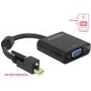 DELOCK Adapter mini Displayport 1.2-dugós csatlakozó csavarral > VGA-csatlakozóhüvely fekete