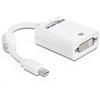 DELOCK adapter Mini DisplayPort (M) - DVI-D (F) (fehér)