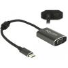 DELOCK Adapter USB Type-C™ csatlakozódugóval > VGA csatlakozóhüvellyel (DP váltakozó mód) PD funkció