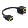 DELOCK adapter VGA (M) - 2x VGA (F)