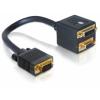 DELOCK Adapter VGA male to VGA + DVI 29 female