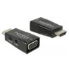 DELOCK Átalakító HDMI-A male to VGA female audió funkcióval (DL65901)