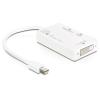 DELOCK Átalakító mini Displayport 1.1 to HDMI/Displayport/DVI 24 pin passzív, fehér