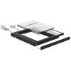 DELOCK Átalakító Slim SATA 5.25 beépítő keret 2.5 SATA HDD-hez 9.5mm-ig