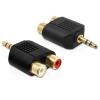 DELOCK Átalakító Stereo 3.5mm 3 pin male to 2x RCA female
