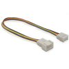 DELOCK Cable Fan connection 4pin male-female 20cm