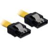 DELOCK cable SATA 20cm straight/straight metal yellow