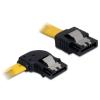 DELOCK Cable SATA 30cm left/straight metal yellow