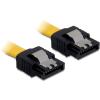 DELOCK cable SATA 50cm straight/straight metal yellow 82477