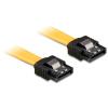 DELOCK Cable SATA 6 Gb/s 50 cm straight/straight metal yellow