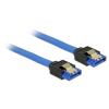 DELOCK Cable SATA 6 Gb/s receptacle straight-SATA receptacle straight 20cm blue