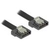 DELOCK Cable SATA FLEXI 6 Gb/s 20 cm black metal