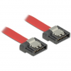 DELOCK Cable SATA FLEXI 6 Gb/s 30 cm red metal