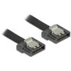 DELOCK Cable SATA FLEXI 6 Gb/s 50 cm black metal