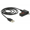 DELOCK Cable USB 2.0 A male > Micro-B male with LED indicator for Volt and Amper