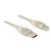 DELOCK Cable USB 2.0 Type-A male USB 2.0 Type-B male 1.5m transparent