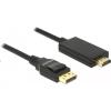 DELOCK Displayport 1.2 - High Speed HDMI-A passzív 4K, 5m fekete kábel