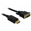 DELOCK Displayport - DVI 24+1 kábel, apa - apa 5,0m