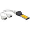 DELOCK Express Card - 2 portos soros port IO vezérlő