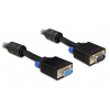 DELOCK extension kábel VGA HD15F/HD15M duplán árnyékolt w/2*ferrítmag 15m