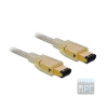 DELOCK Firewire 6/6 (IEEE-1394) M/M adatkábel 3m