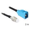 DELOCK FME Jack -> FAKRA Z Jack RG-174 M/F antenna kábel 2m fekete