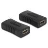 DELOCK HDMI micro D F/F adapter fekete