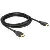 DELOCK kábel HDMI male/male összekötő 4K 60Hz, 2m