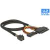 DELOCK Kábel SFF-8643 dugó > U.2 SFF-8639 + SATA tápcsatlakozó 50 cm