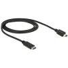 DELOCK kábel USB Type-C™ 2.0 apa USB 2.0 Mini-B apa 1m fekete