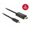 DELOCK kábel USB Type-C male to HDMI male (DP Alt