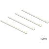 DELOCK Kioldható kábelkötegelők, fehér szín, 200 x 7,2 mm (H x Sz), 100 darab