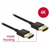 DELOCK Nagysebességű HDMI-kábel Ethernettel - HDMI-A-csatlakozódugó > HDMI-A-csatlakozódugó, 3D, 4K,