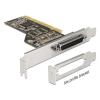 DELOCK PCI Card > 1 x Parallel + low profile