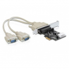 DELOCK PCI-E x1 - 2 portos soros port IO vezérlő