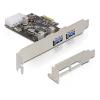 DELOCK PCI-E x1 - 2 portos USB3.0 IO vezérlő