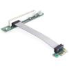 DELOCK PCI-E x1 -> PCI Riser card (5V, 13cm-es kábellel)