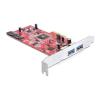 DELOCK PCI-E x4 - 2+2 portos SATA3 USB3.0 IO vezérlő