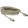 DELOCK PS/2 M/F adatkábel 5m hosszabbító szürke