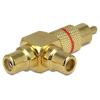 DELOCK RCA -> 2db RCA M/F adapter