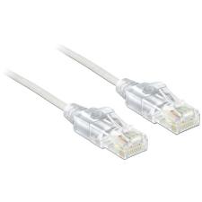 DELOCK RJ45 CAT6 UTP M/M adatkábel 2m slim fehér kábel és adapter