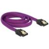 DELOCK SATA 6 Gb/s kábel 1 m (lila)