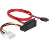 DELOCK SATA Molex Power 4pin -> SATA All-in-One F/F adatkábel 0.5m