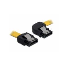 DELOCK SATA sárga egyenes/egyenes csatl. (fémlappal) 30 cm-es összekötő kábel asztali számítógép kellék