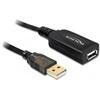 DELOCK USB 2.0 aktív hosszabbító kábel A-A 15 m