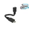 DELOCK USB 2.0 kábel 15 cm (mikro-B aljzat / mikro-B dugó, OTG)