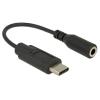 DELOCK USB 2.0 Type-C (M) - Jack 3.5mm (F) 14cm fekete audio adapter