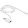 DELOCK USB A -> USB micro B M/M töltő kábel 1m fehér